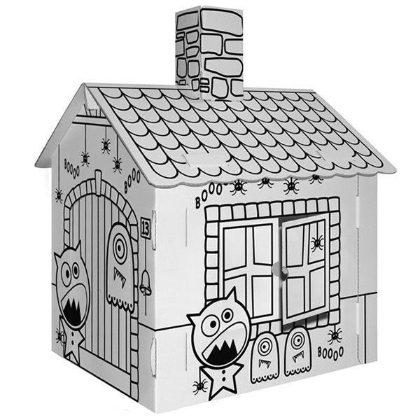 Maison Hantée En Carton Blanc à Colorier Achat Vente