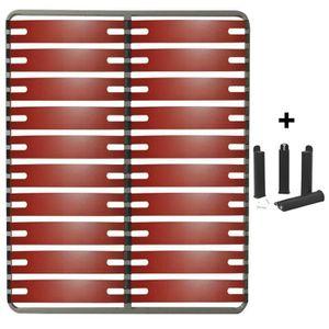 SOMMIER RedLine - Pack Sommier 2x10 Lattes 140x190cm + Pie