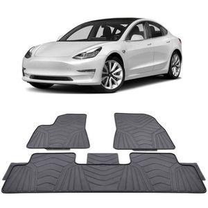 BMZX Lot de 3 Tapis de Sol de Voiture r/ésistants pour Tesla Mod/èle 3 Noir