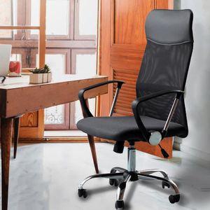 CHAISE DE BUREAU Fauteuil chaise de bureau noir inclinable ergonomi