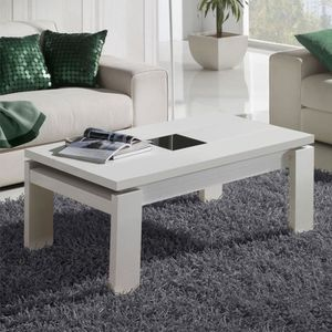 TABLE BASSE Table basse blanche relevable - DILIA  - Taille :