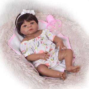 POUPÉE 23 pouces Reborn bébé poupée corps entier Silicone