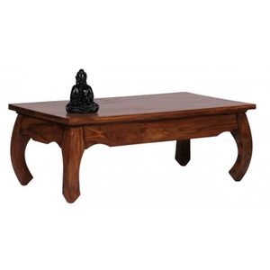TABLE BASSE Table basse 110x60 cm design oriental en bois mass