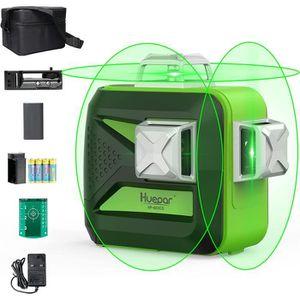 Hengyuanyi MW-93T-2-3GJ Batterie Li-Batterie Vert Laser Level Auto-nivellement 360 degr/és Horizontal /& Croix Verticale