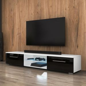 MEUBLE TV Meuble TV / Meuble salon - EDITH - 140 cm - blanc