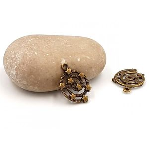 Perles 30 Breloques Bronze Etoiles sur Spirale