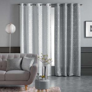 RIDEAU Rideau a oeillets 140 x 280 cm polyester imprime m