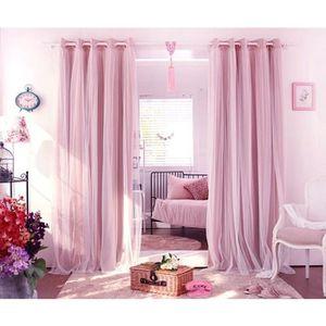 RIDEAU 8746-SHLK Doubles Couches Rideaux de Fenêtre