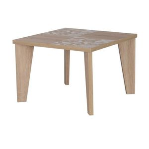 TABLE BASSE Table basse Chêne clair Carreaux de ciment - ANNIE
