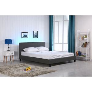 structure de lit achat vente structure de lit pas cher soldes cdiscount. Black Bedroom Furniture Sets. Home Design Ideas