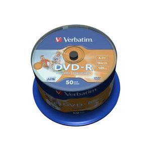 CD - DVD VIERGE VERBATIM DVD-R/4.7GB 16xspd 50Spindle print