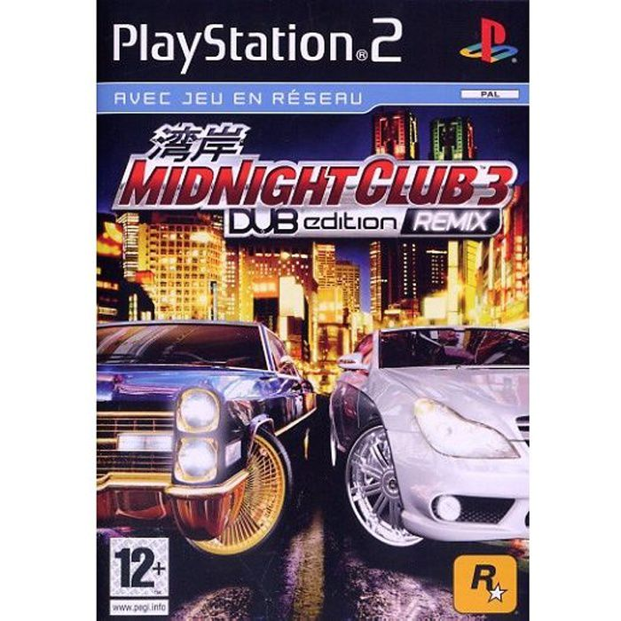 JEU PS2 MIDNIGHT CLUB 3 DUB EDITION REMIX / jeu console PS