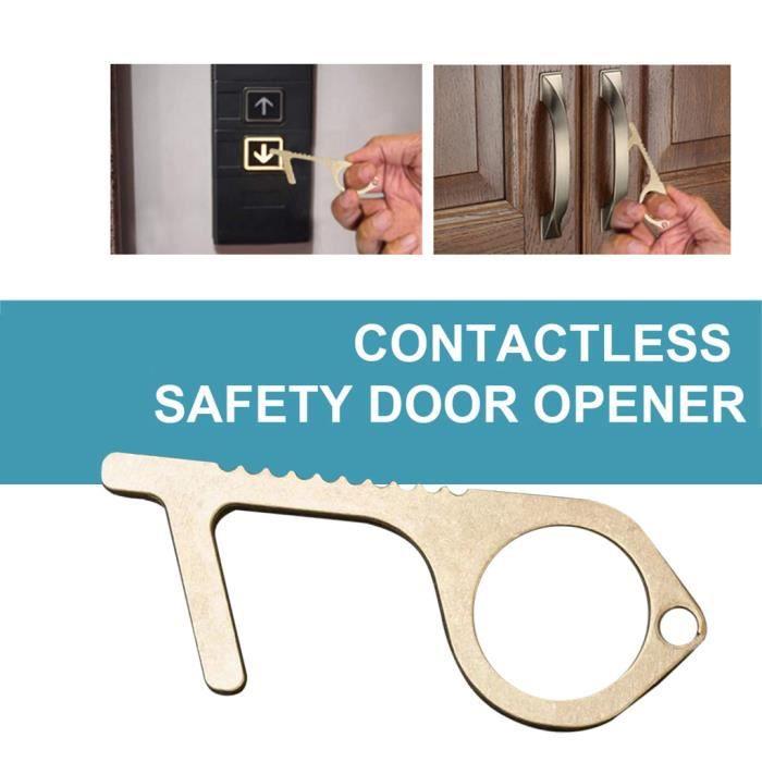 Le moyen sûr et facile d'éviter les germes - Clé en laiton d'isolation de sécurité sans contact Outils ménagers PIECE DETACHEE