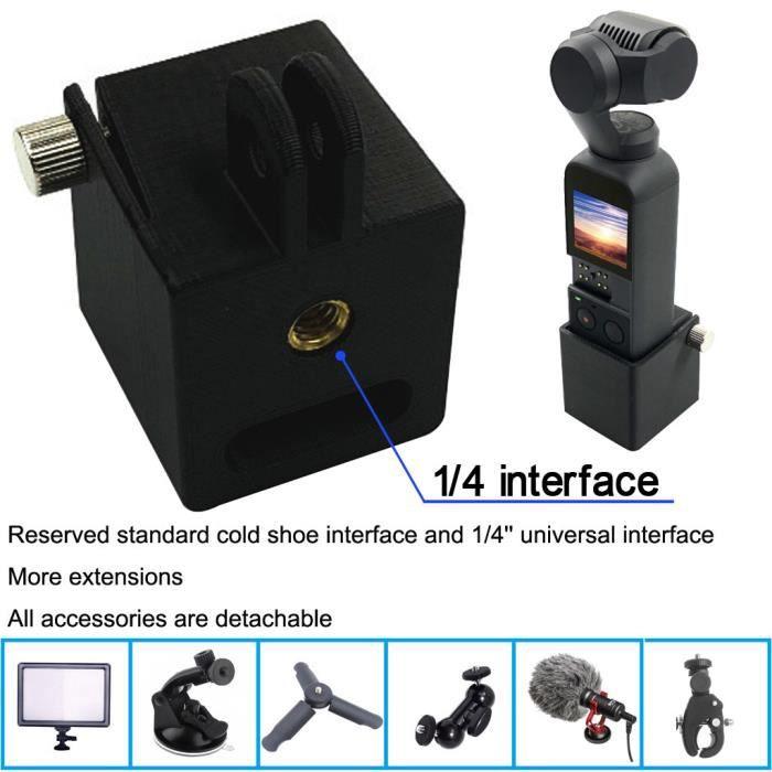 Trépied support à montage en tête 1-4 Vis Support caméra Adaptateur pour DJI Osmo Pocket _Han4169