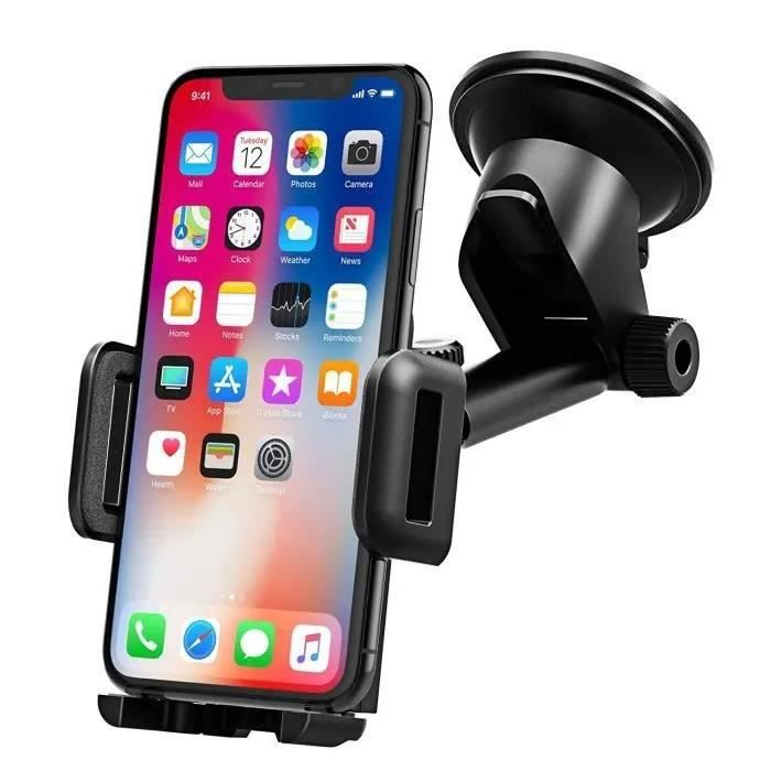 Support Téléphone Voiture Support Tableau de Bord Téléphone Support Voiture Téléphone GPS Pare-Brise Support Voiture pour Smartphone