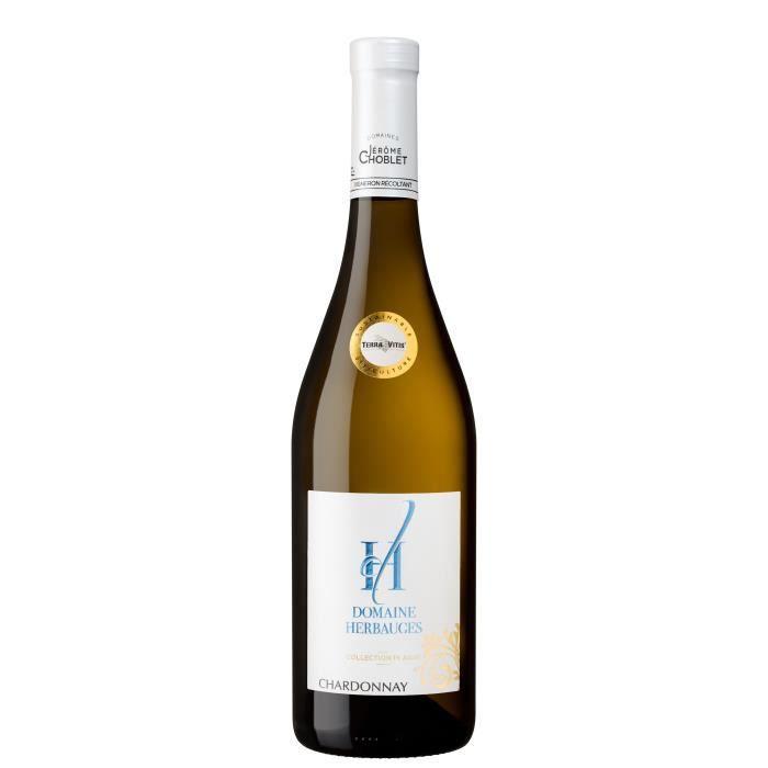 Chardonnay Vin de Pays Blanc IGP 2019 - Collection Plaisir - Domaine des Herbauges