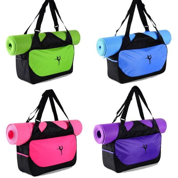 48*24*16cm haute capacité Yoga tapis sac à dos toile imperméable Yoga sac sport Fitness sacs (pas de tapis de Yoga) Violet