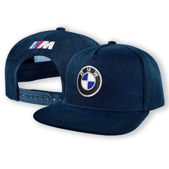 BMW M Power Casquette de Baseball Snapback Bleu Marine Brodé Logo Auto Voiture Homme Femme Cap Hat Chapeau Hip-Hop Cadeau 5 Panel