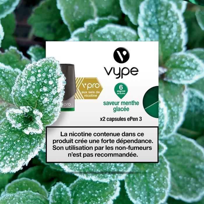 Capsules Vype ePen 3 vPro Saveur Menthe Glacée 6 mg