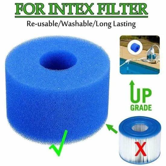 éponge de cartouche filtrante en mousse de piscine réutilisable / lavable pour Intex Type A - S
