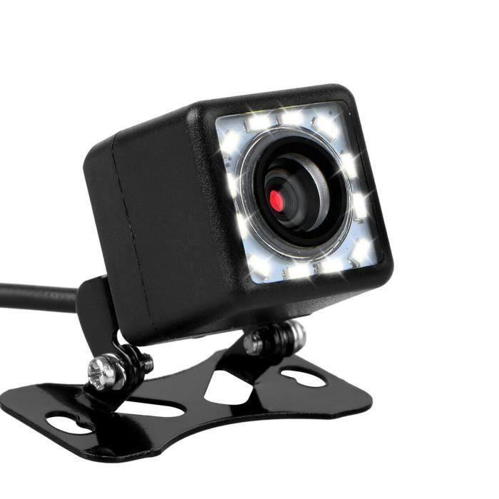 Caméra de recul universelle, Caméra de Recul Pour Voiture 170° 12LED Nocturne Étanche Voiture, HD Night Vision voiture Caméra