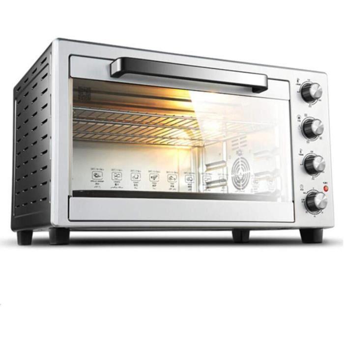 BTSSA Mini Four électrique • 60 L • 4 plaques Amovibles • 2600 W • température jusqu'à 230°C • 5 éléments Chauffants • tournebroche