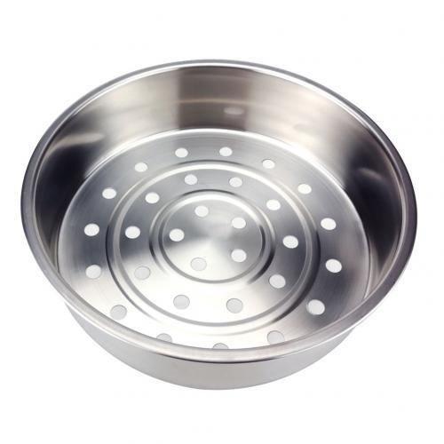 Cuiseurs vapeur,Panier à vapeur en acier inoxydable,ustensile de cuisine pour le nettoyage des fruits et - Type Silver 22 cm
