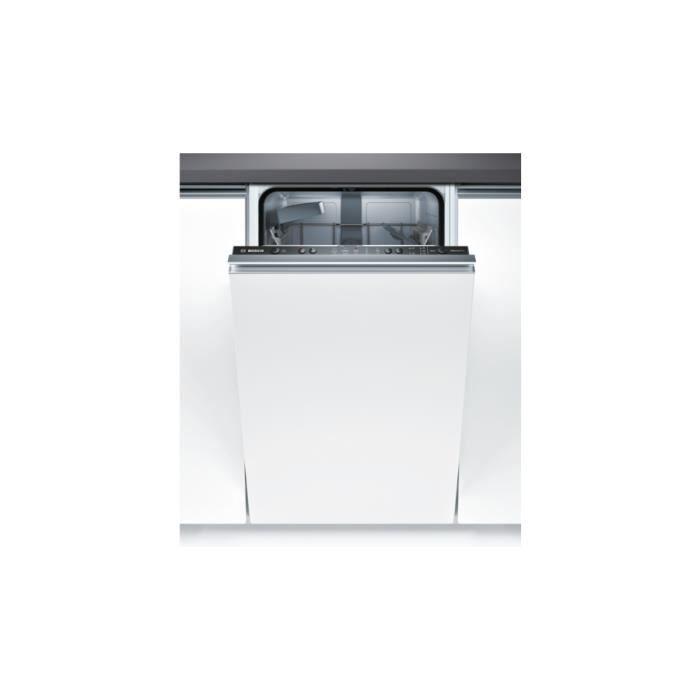 Bosch Serie 2 SPV25CX03E, Entièrement intégré, Compact (45 cm), Acier inoxydable, boutons, 1,75 m, 1,65 m