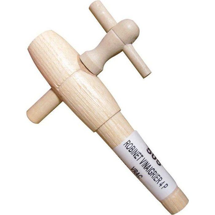BOUCHONNERIE JOCONDI Robinet en bois acacia - Pour vinaigrier - Nº 4