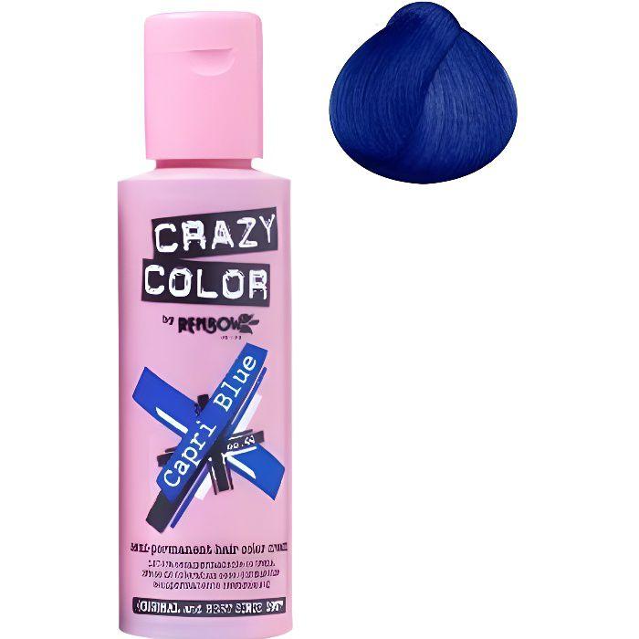 Coloration cheveux semi-permanente CRAZY COLORCouleur : Bleu CapriPour un look FUN et des cheveux aux couleurs vives et