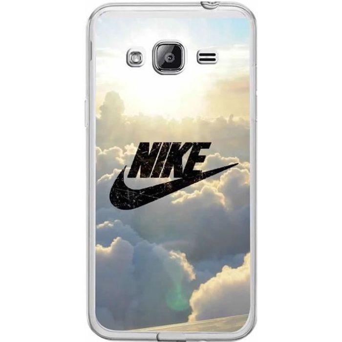 Coque Pour Samsung Galaxy J3 ( 2016 ) J320F Sky Nike Design Souple TPU Silicone