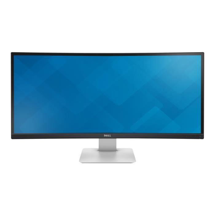 Dell UltraSharp U3415W Écran LED incurvé 34- (34- visualisable) 3440 x 1440 IPS 300 cd-m² 1000:1 5 ms 2xHDMI, DisplayPort, Mini…