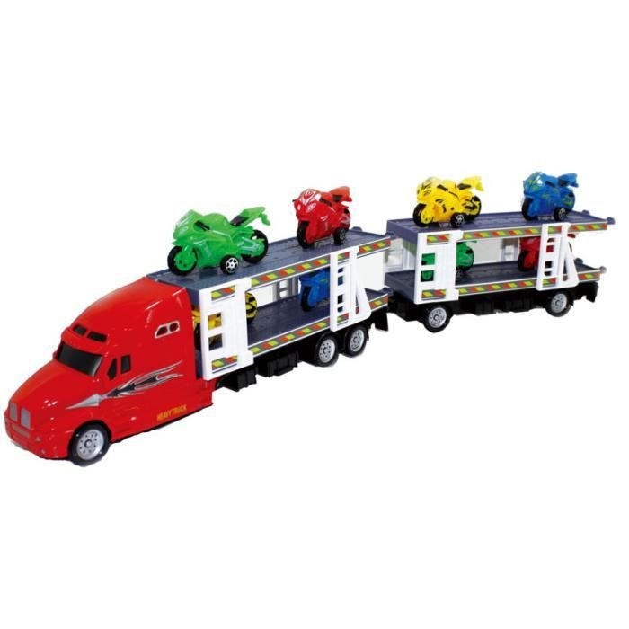 Luna transporteur de voitures avec moteurs junior 53 cm rouge 7 pièces