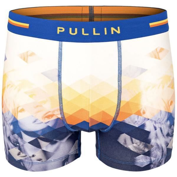 PULL IN Boxer Homme Coton Bio MADRAGUE Blanc Marine