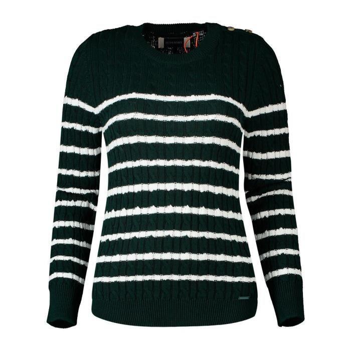 Vêtements femme Chandails Superdry Croyde Bay Cable Knit