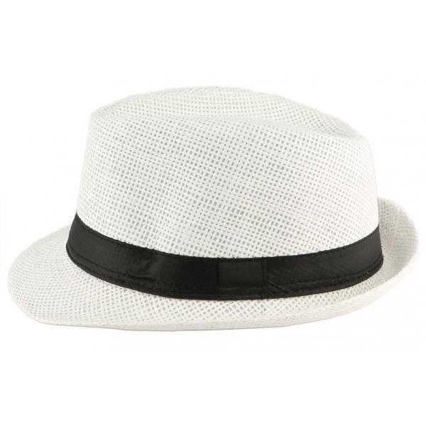 Chapeau Paille Enfant Blanc Mylko 6 a 11 ans - Blanc - Taille unique