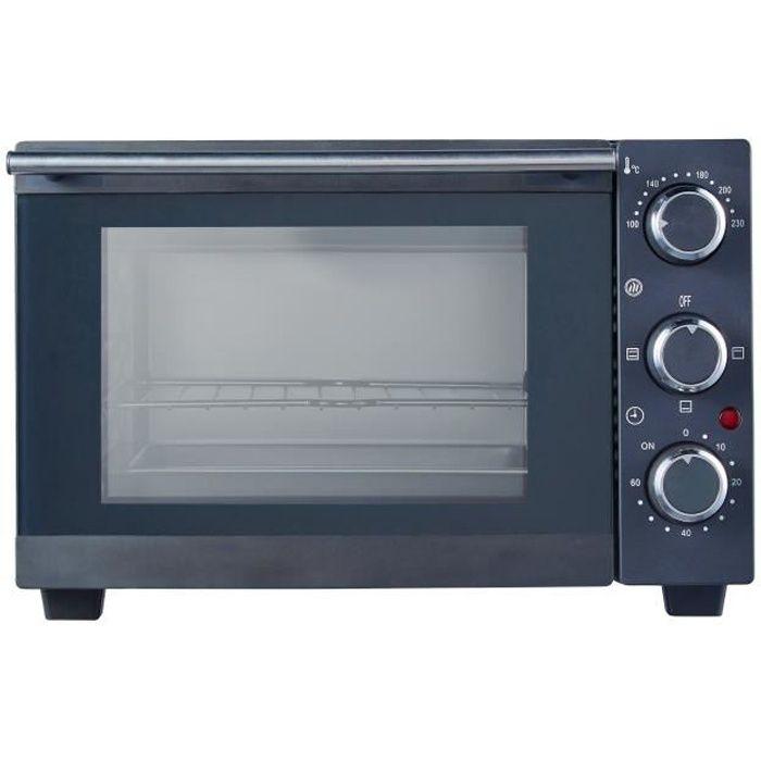 SLABO FOURS COMPACTS 15 litres - mini-four 1200 WATT - avec chauffage par le haut et par le bas 100 - 230 °C - aide de cuisine prati