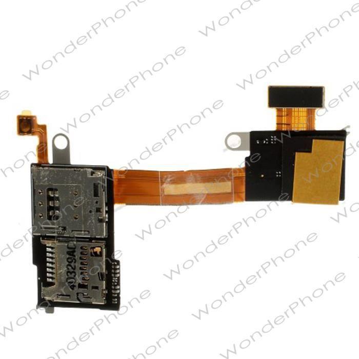 Nappe Lecteur de SIM et SD pour Sony Xperia M2