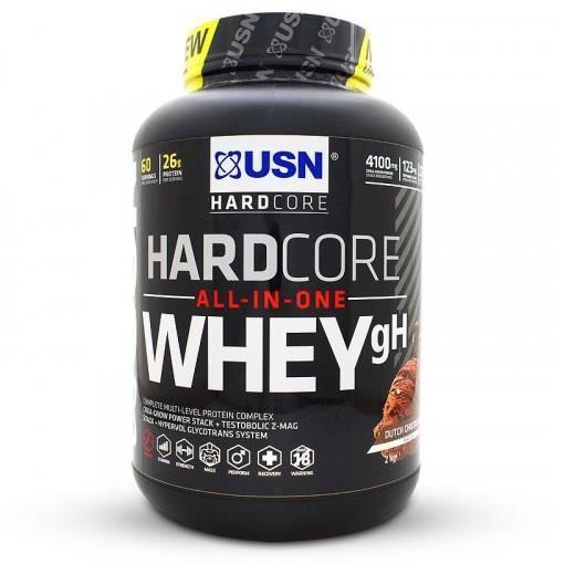 Hardcore Whey GH USN 2 Kg Chocolat Rocky Road - Whey Protéine + Creatine