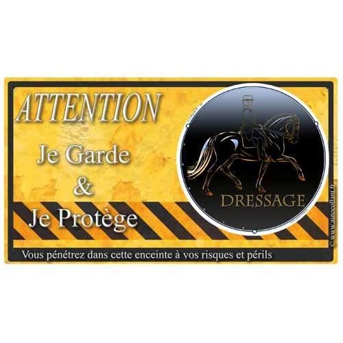 Plaque De Garde Dressage-Cheval-T warning