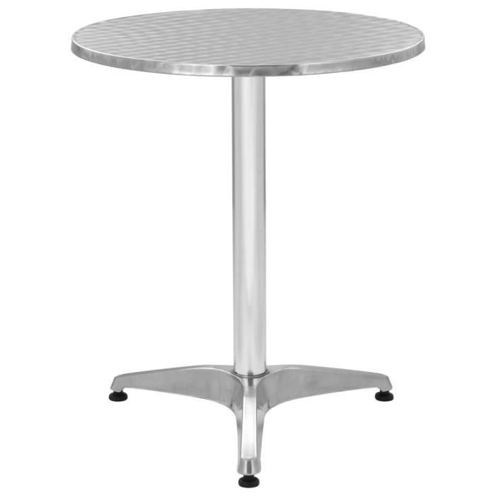Table de jardin ronde Aluminium 60 x 70 cm - Achat / Vente table de ...