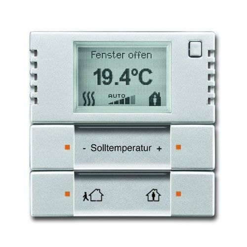 busch jaeger 6124 01 83 thermostat d ambiance knx argent aluminium solo achat vente. Black Bedroom Furniture Sets. Home Design Ideas