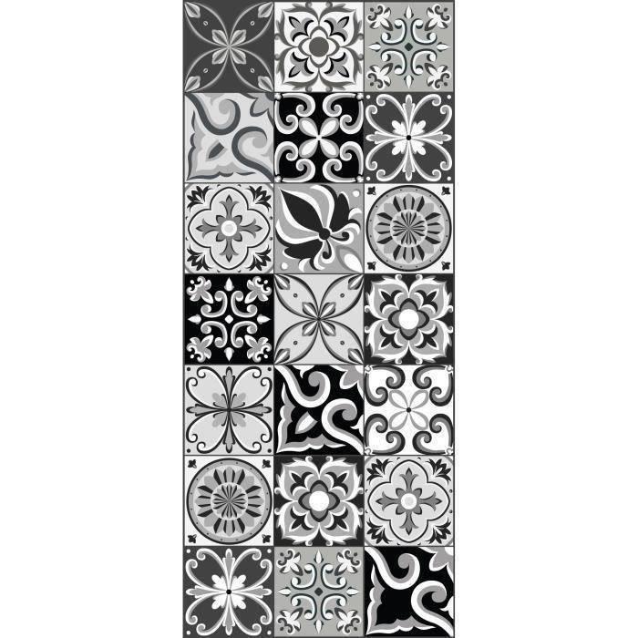 Moderne 2,4,6 8 Noir Blanc Carreaux Pvc Vinyle Table de Salle à Manger Lieu Tapis Lavable Lot