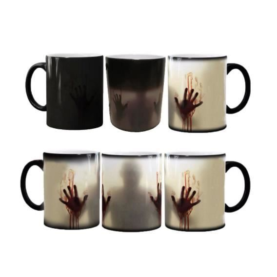 mug magique tasse en ceramique cafe made in france livraison express promo zombie. Black Bedroom Furniture Sets. Home Design Ideas
