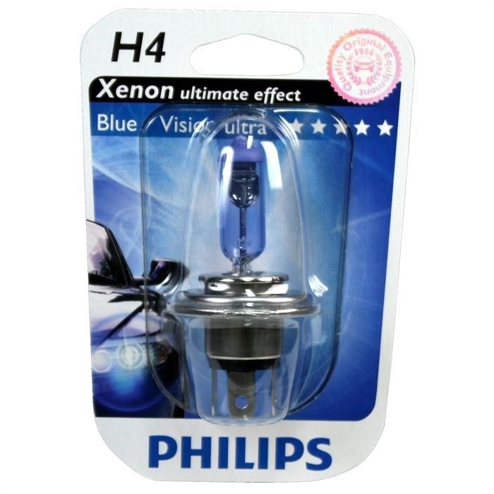 ampoule philips bluevision ultra h4 12v 60 55w achat. Black Bedroom Furniture Sets. Home Design Ideas