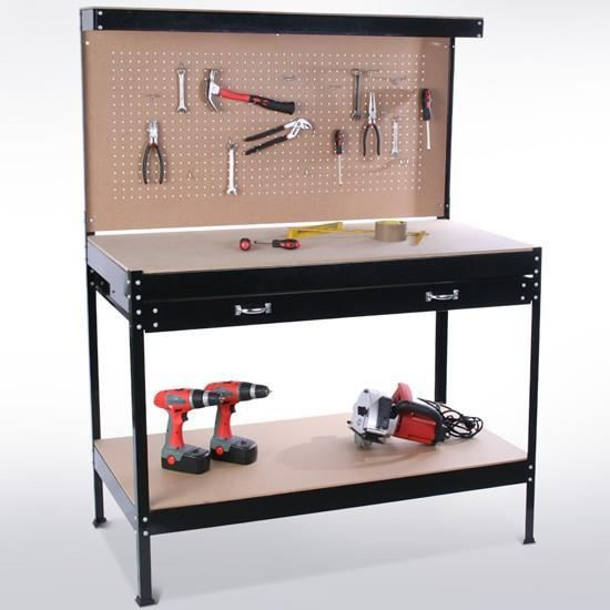 tabli atelier bricolage rangement outils achat vente. Black Bedroom Furniture Sets. Home Design Ideas