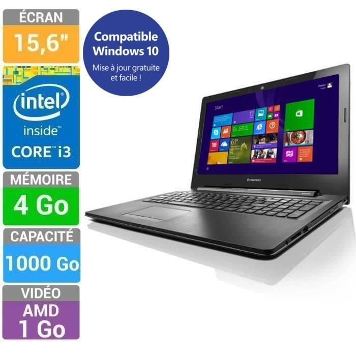 lenovo pc portable ideapad g50 70 core i3 15 6 prix pas. Black Bedroom Furniture Sets. Home Design Ideas