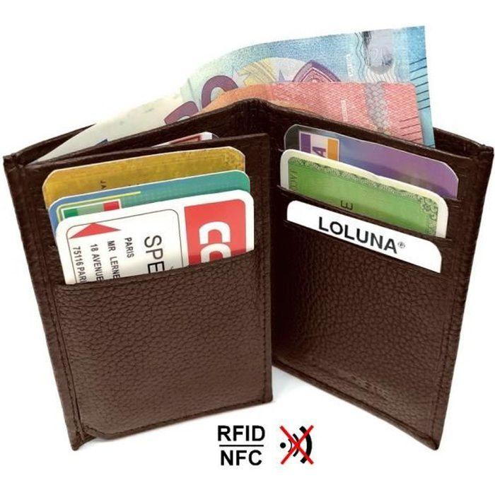 Blocage RFID Etui pour Carte Bancaire dans Une Bo/îte Cadeau Noir 1 Mini Portefeuille Incluse Porte Carte de Cr/édit en Aluminium dans Une Petit Porte Monnaie