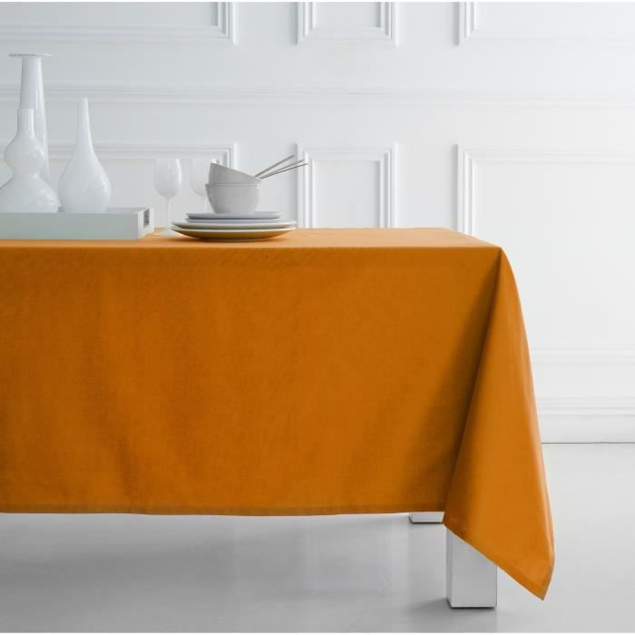 today nappe 140x240cm coton vendange d 39 orange achat vente nappe de table cdiscount. Black Bedroom Furniture Sets. Home Design Ideas