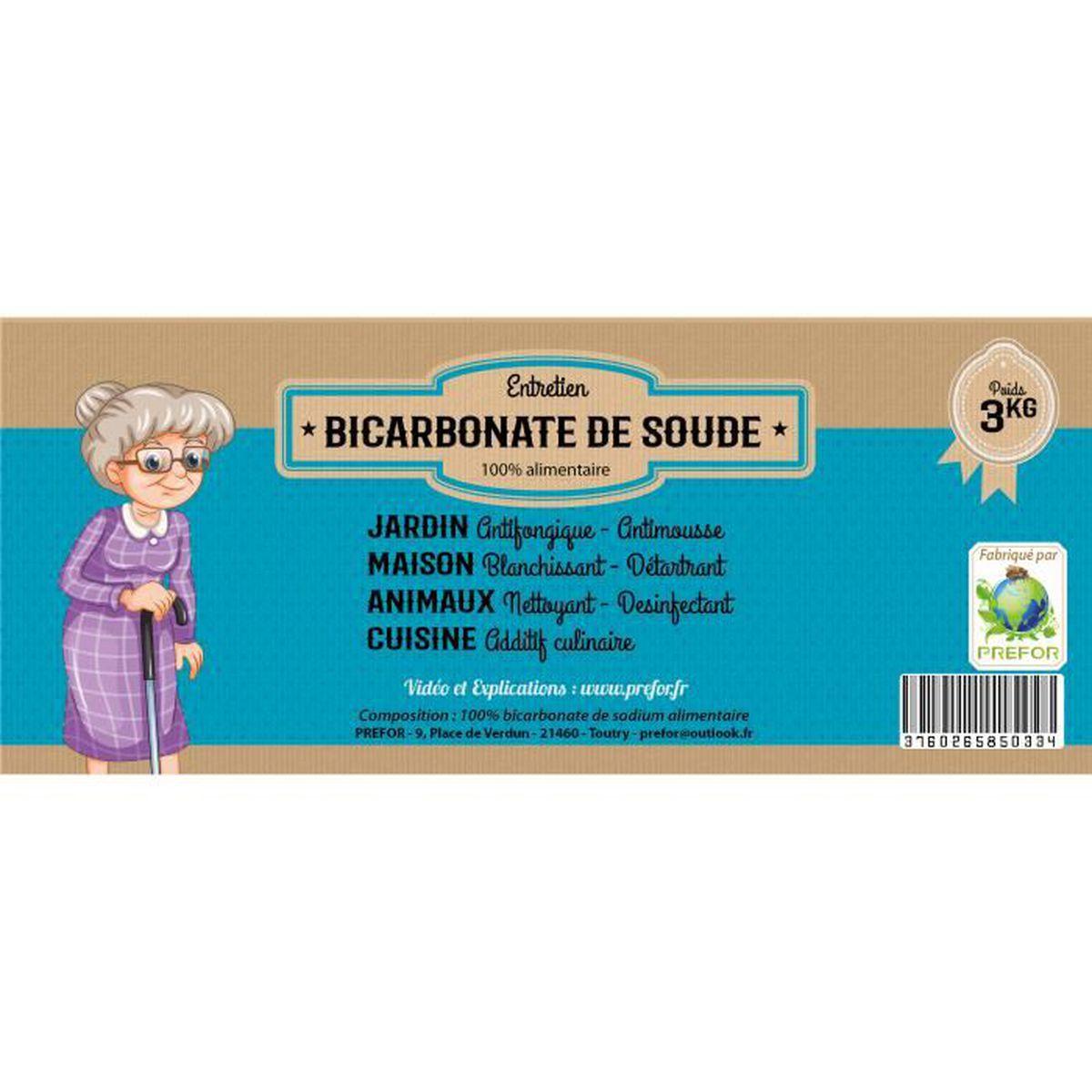 Prefor Bicarbonate De Soude Alimentaire Seau 3l 3kg Achat